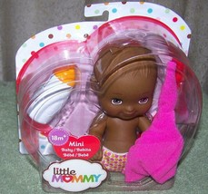 "Fisher Price Little Mommy 6"" Mini Baby Girl AA Doll Brown Eyes New - $10.88"