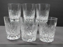 6 ABP Cut Glass tumblers - $88.83
