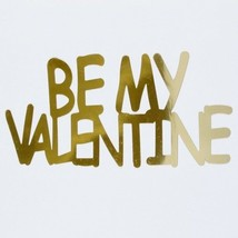 Word Be My Valentine Plastic Shapes Confetti Die Cut FREE SHIPPING - £5.56 GBP