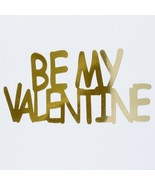 Word Be My Valentine Plastic Shapes Confetti Die Cut FREE SHIPPING - $6.99