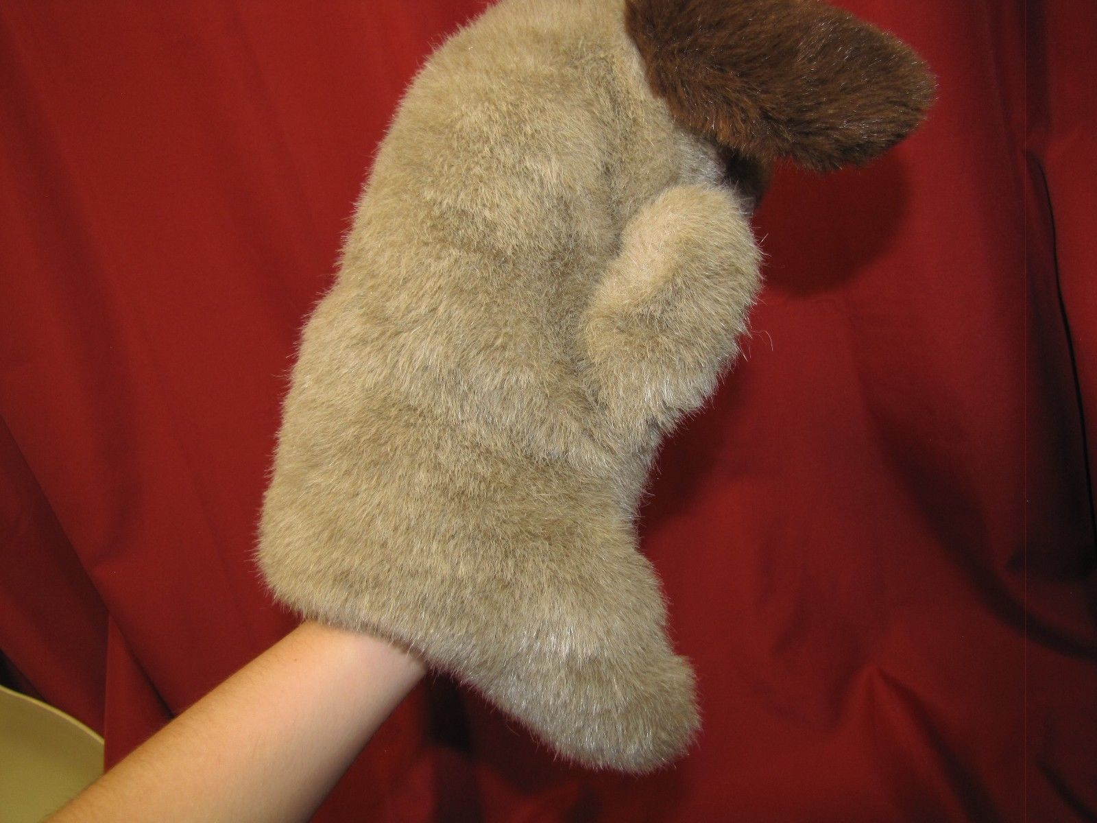 COMMONWEALTH STUFFED PLUSH HAND PUPPET HUG A PLUSH 1989 TAN BROWN PUPPY DOG image 5