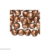 """100 Steel JINGLE BELL Drops Small 6mm ( 1/4"""") Antique COPPER Color Beads... - $7.65"""