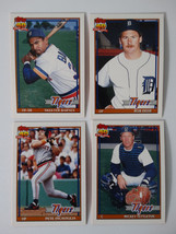 1991 Topps Traded Detroit Tigers Team Set of 4 Baseball Cards - $3.00