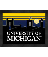 Michigan Wolverines 13 x 16 Uscape with Retro Skyline Framed Print  - $39.95