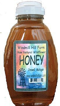 Raw Natural Wildflower HONEY from Michigan - 16oz