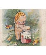 Vintage Rose O'Neill Valentine's Day Postcard - Kewpie Jam Jar and Birds - $15.50