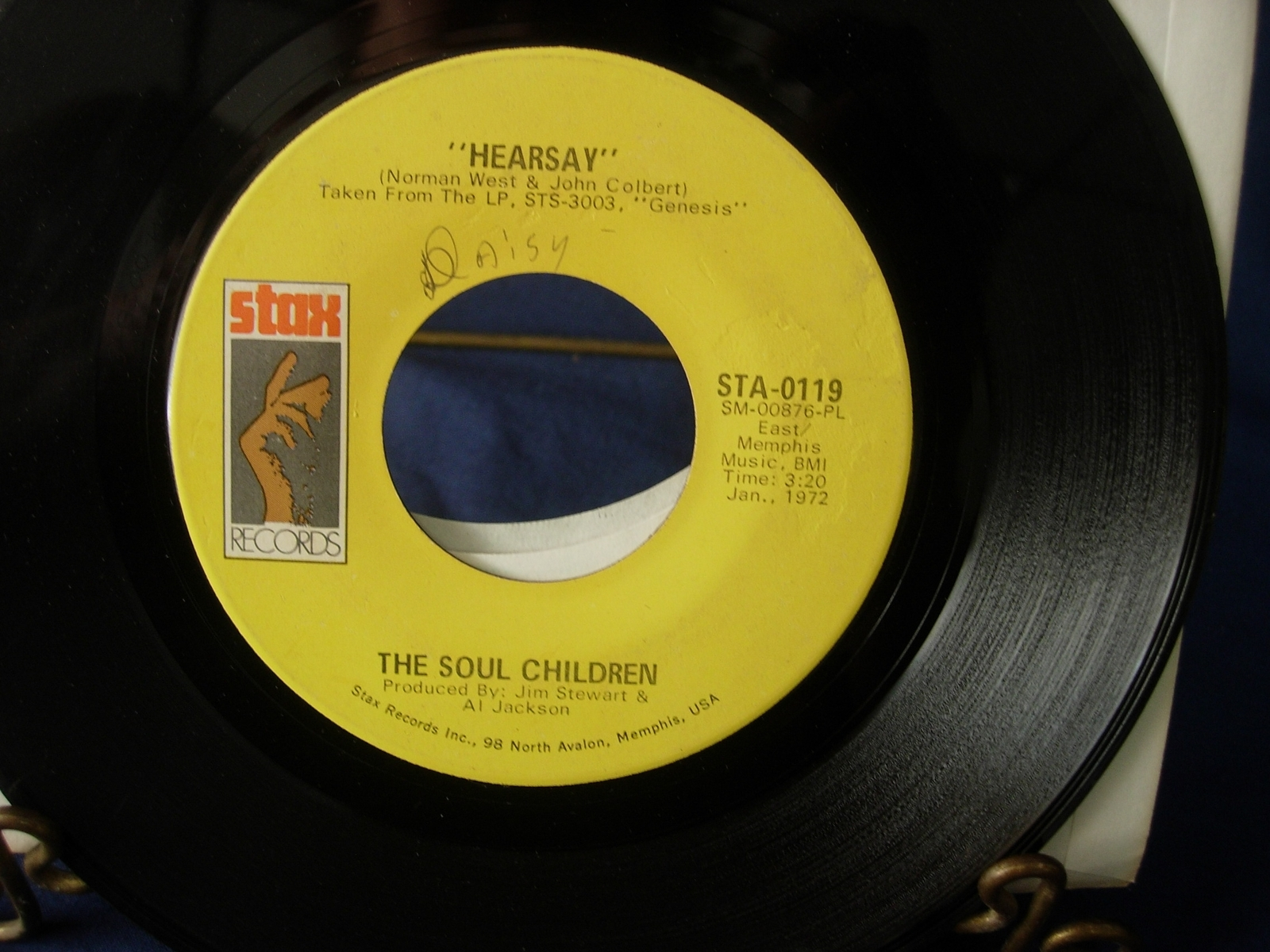 THE SOUL CHILDREN Hearsay / Don't Take My Sunshine - Stax Records STA-0119