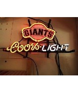 "Coors San Francisco Giants Neon Sign 14""x10"" Beer Bar Light Artwork Man ... - $59.83"
