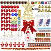Outgeek 128PCS Christmas Tree Ornaments, Xmas Tree Hanging Ornaments Sha... - $14.92