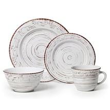 Pfaltzgraff 5217179 Trellis White 16-Piece Dinnerware Set, Service for 4 - $42.70