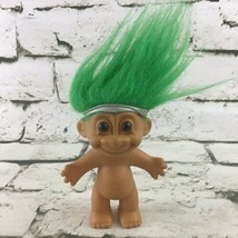 "VTG RUSS Troll Figure 4"" Doll Green Hair Silver Headband Collectible Toy  - $11.88"