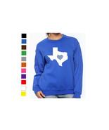 Texas Long Sleeve Sweatshirt Love Home Heart Unisex Men Women State - $17.81 - $20.78