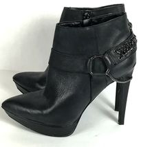 Jessica Simpson Vinata 10M Ankle Bootie Platform Stiletto Heels Chains Side Zip  image 4