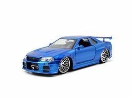 Jada Toys Fast & Furious 1:24 Brian's 2002 Nissan Skyline GT-R R34 a Die... - $13.40