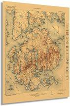 1922 Acadia National Park Map - Vintage Map Acadia National Park Wall Art - Vint - $34.99+