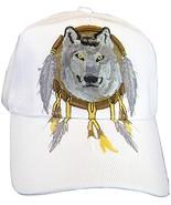 Native Pride Wolf Men's Adjustable Baseball Cap (S2-White) - $11.95
