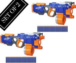 2 SET Elite Nerf Strike N Hyperfire Blaster Gun Dart New Toy Kids 50 Dar... - $125.03