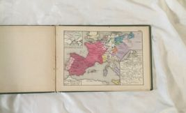 Antique Hardcover 1874 Historical Atlas 100 World Color Maps Labberton image 11