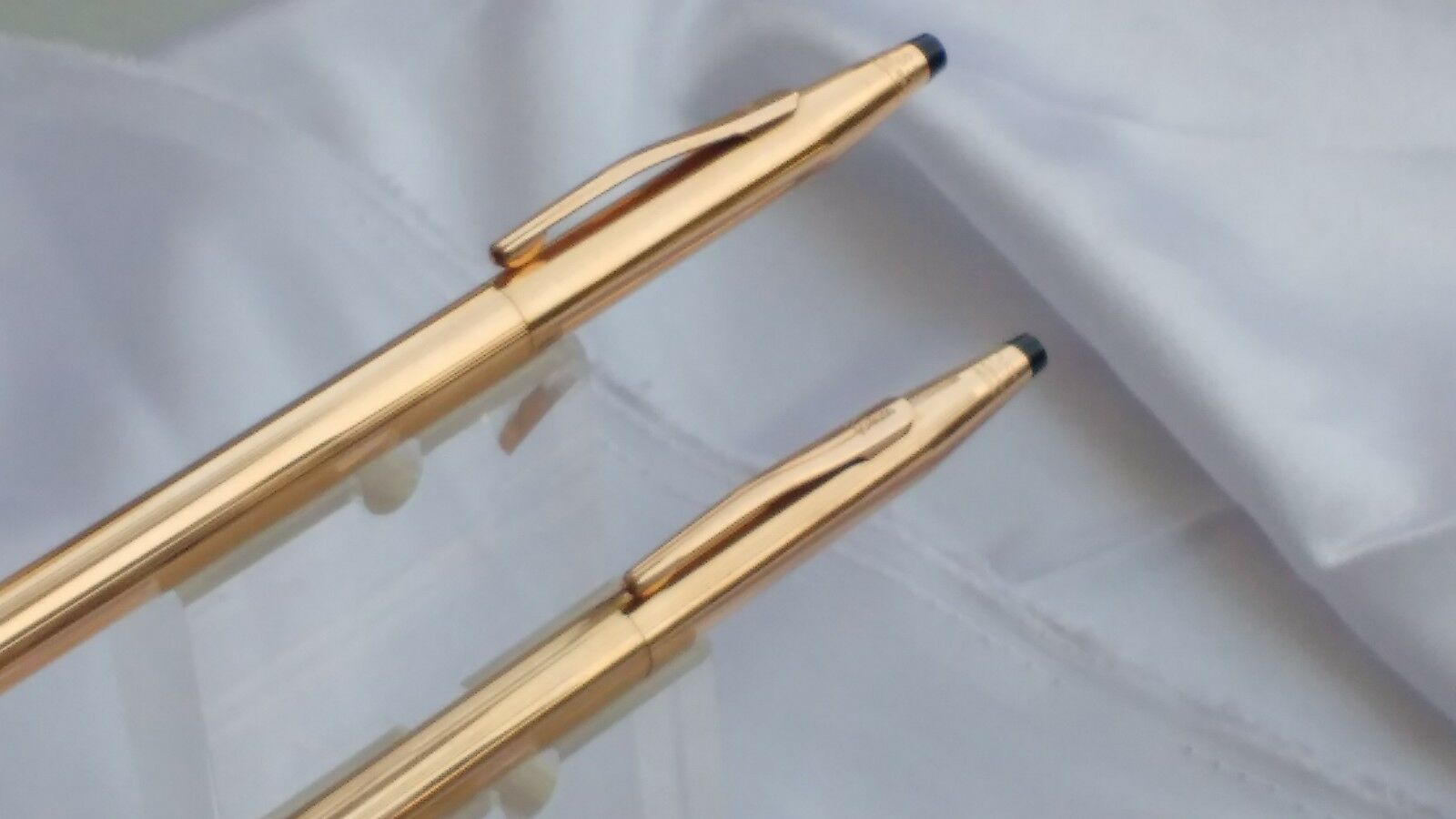 Set Of 14kt Rolled Gold Cross Classic Century Ball Pen And Mechanical Pencil image 3