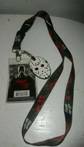 Friday The 13th Neck Lanyard Horror Movie w/ Jason Hockey Mask Charm Hal... - $12.82