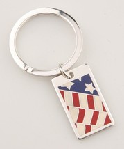 "Tiffany & Co. Sterling American Flag Key Ring w/ ""The West Wing"" Engravi... - $495.00"