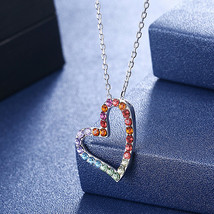 Sterling Silver Pink Tourmaline Diamond Accent Heart  Pendant Necklace 1... - $19.99
