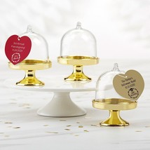Personalized Small Bell Jar with Gold Base - Holiday (Set of 12)  - $21.99