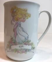 Precious Moments Cup Enesco Kim Personalized Name Porcelain Coffee Mug 1989 - $20.79