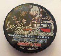 Nhl Mark Messier Retirement Night 2006 Puck Msg Ny Rangers - $95.00