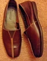 Dexter Mujer Zapatos Mocasines Cuero Marrón Nuevo Nwot Resbalón Sz 5 - $10.42