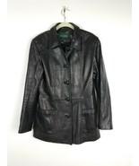 Danier Soft Leather Womens Coat Jacket Genuine Black  Bust 38 Size 10 to 12 - $60.78