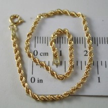 18K YELLOW GOLD BRACELET, BRAID ROPE MESH, 7.30 INCH LONG, MADE IN ITALY - $138.54