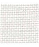White 36ct evenweave 19x35 cross stitch fabric Fabric Flair - $16.20