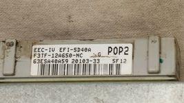 95 Ford F-150 MTX MT Manual Trans ECU ECM PCM Engine Computer F3TF-12A650-NC image 4