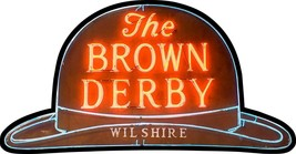 Brown Derby Hat Plasma Cut Metal Sign - $79.95