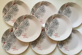 Set of 12 Corelle Corningware Dinner Plates 2016 Happy Holidays Christma... - $69.29