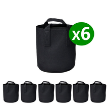 6Pcs Plant Grow Bags Breathable Aeration Fabric Pot with Handles Hydroponic - $17.53 CAD+