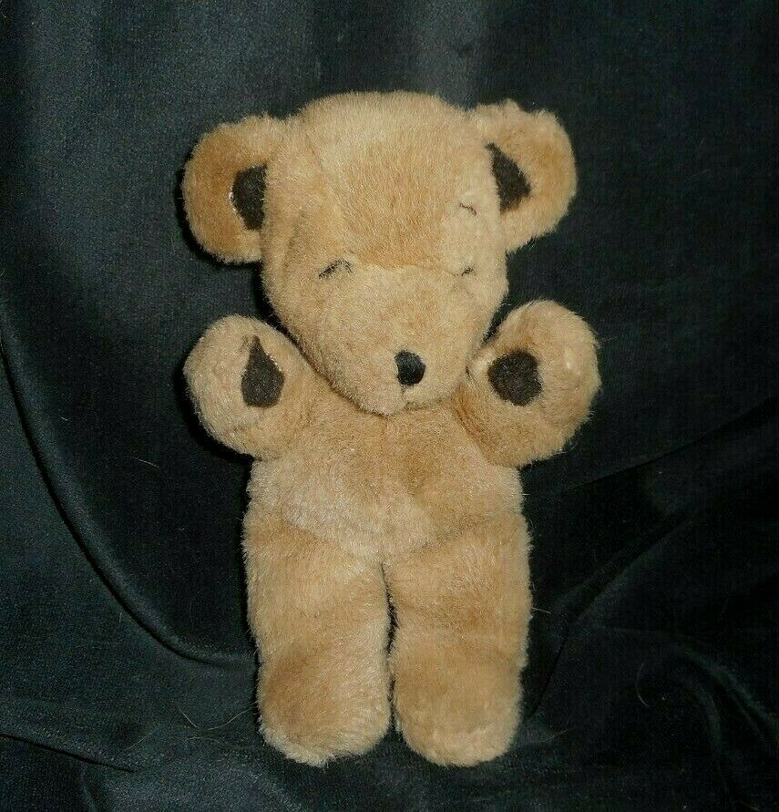 "8"" Vintage 1979 Gund Marrón Mini Stitches Oso de Peluche Peluche Plush Toy"
