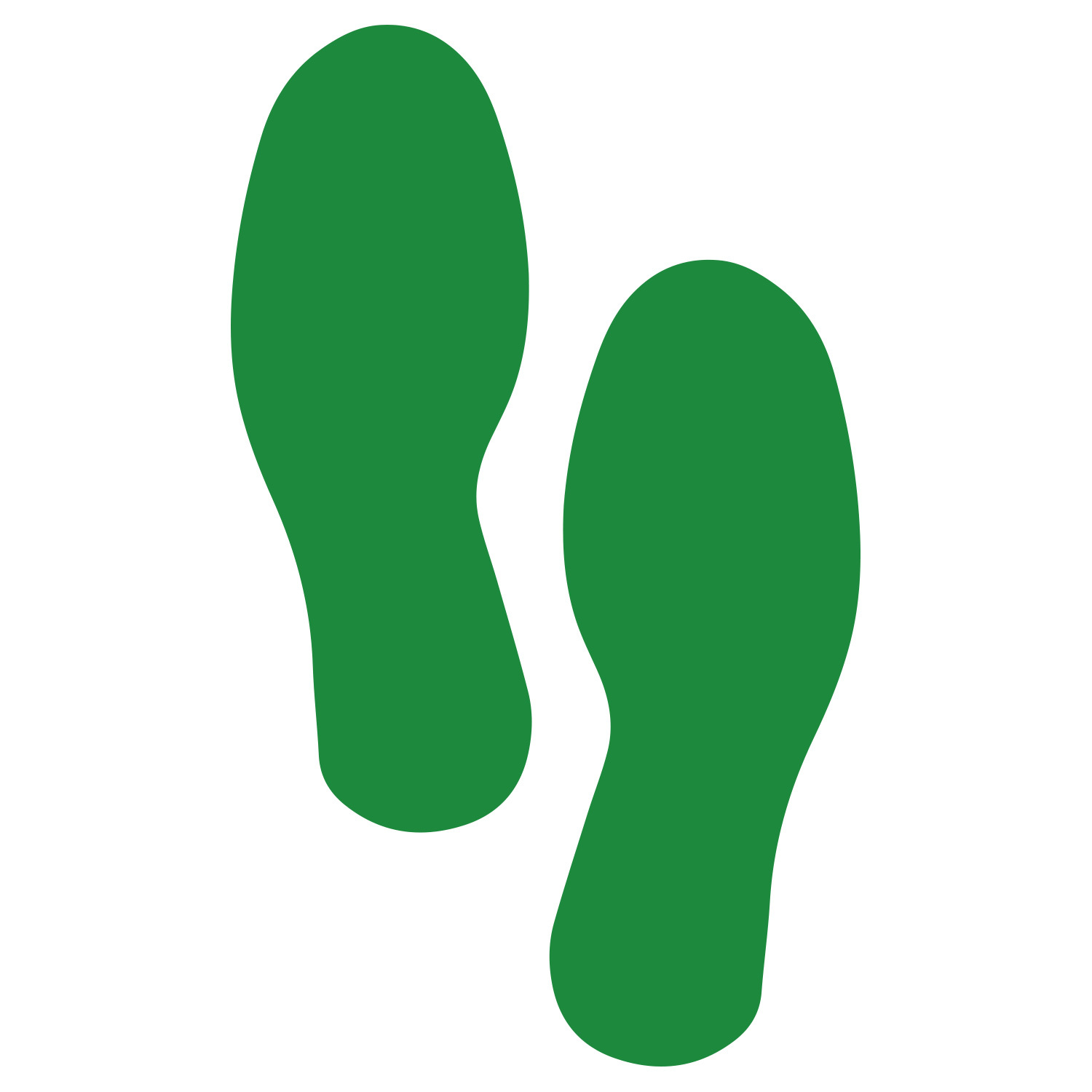 Primary image for LiteMark Large Size Green Removable Footprint Decals  - Pack of 8 (4 Pairs)
