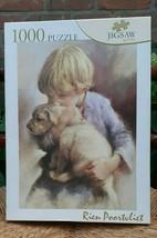Artist Rien Poortvliet Jigsaw Puzzle Boy Golden Retriever Puppy Dog  PTZ 1000 pc - $135.00