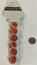 Napier Red/Silver Stretch Bracelet NWT $28 - $13.86