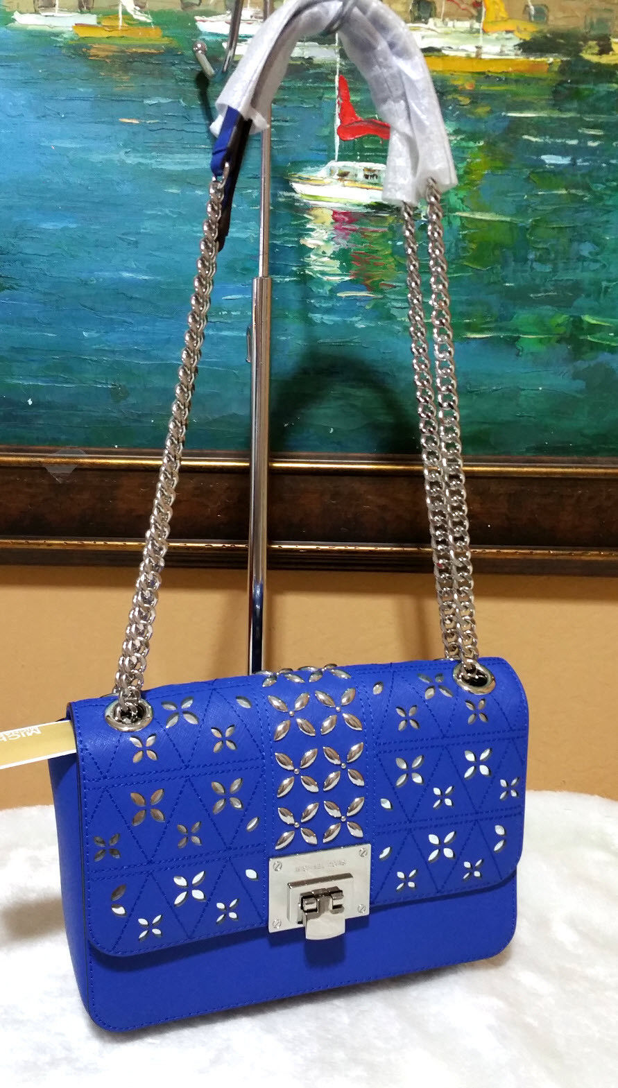 16c8d4aa2dc1 Michael Kors Tina Stud Medium Clutch Bag and 50 similar items. 57