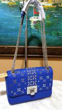 Michael Kors Tina Stud Medium Clutch  Bag Crossody elec. Blue Floral Per... - $2.406,12 MXN