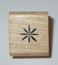 Flower Rubber Stamp Floral Close To My Heart Wood Mounted Mini  - $3.46
