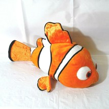 Disney Store Pixar Nemo Clown Fish Stuffed Plush Toy 18 inch Scales Auth... - $17.81