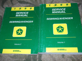 1998 Chrysler Sebring Dodge Avenger Service Shop Repair Manual Factory Oem Books - $24.70