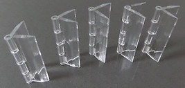 Pack of 5 Transparent Clear Plastic Acrylic 25mm Continuous Piano Hinge ... - $11.18