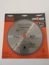 "BLACK + DECKER 7 1/4"" Fine Finish Miter / Circular Saw Blade - Carbide 6... - $9.89"