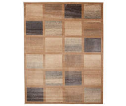 """Modern Box Style Area Rug, (6'7"""" x 8'6"""") Earthy Colors with Natural Tones - $159.99"""