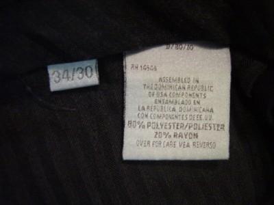 MEN VAN HEUSEN NAVY BLUE DRESS CAREER PANTS 34 X 30
